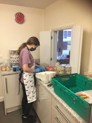 kes prep in kitchen