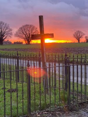 sunset at chapel Feb 2021
