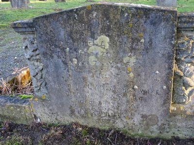 Plot 597 and 598 Headstone