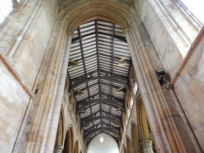 St Marys Nave Roof showing Angels