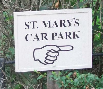 St Marys Car Park Sign