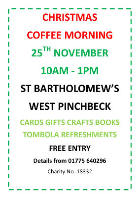 West Pinchbeck Christmas Coffee Morning