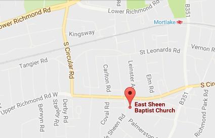 East Sheen map