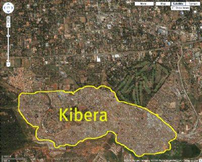 Kibera area of Nairobi