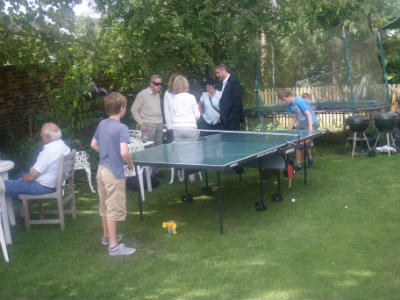 Table tennis at the BBQ