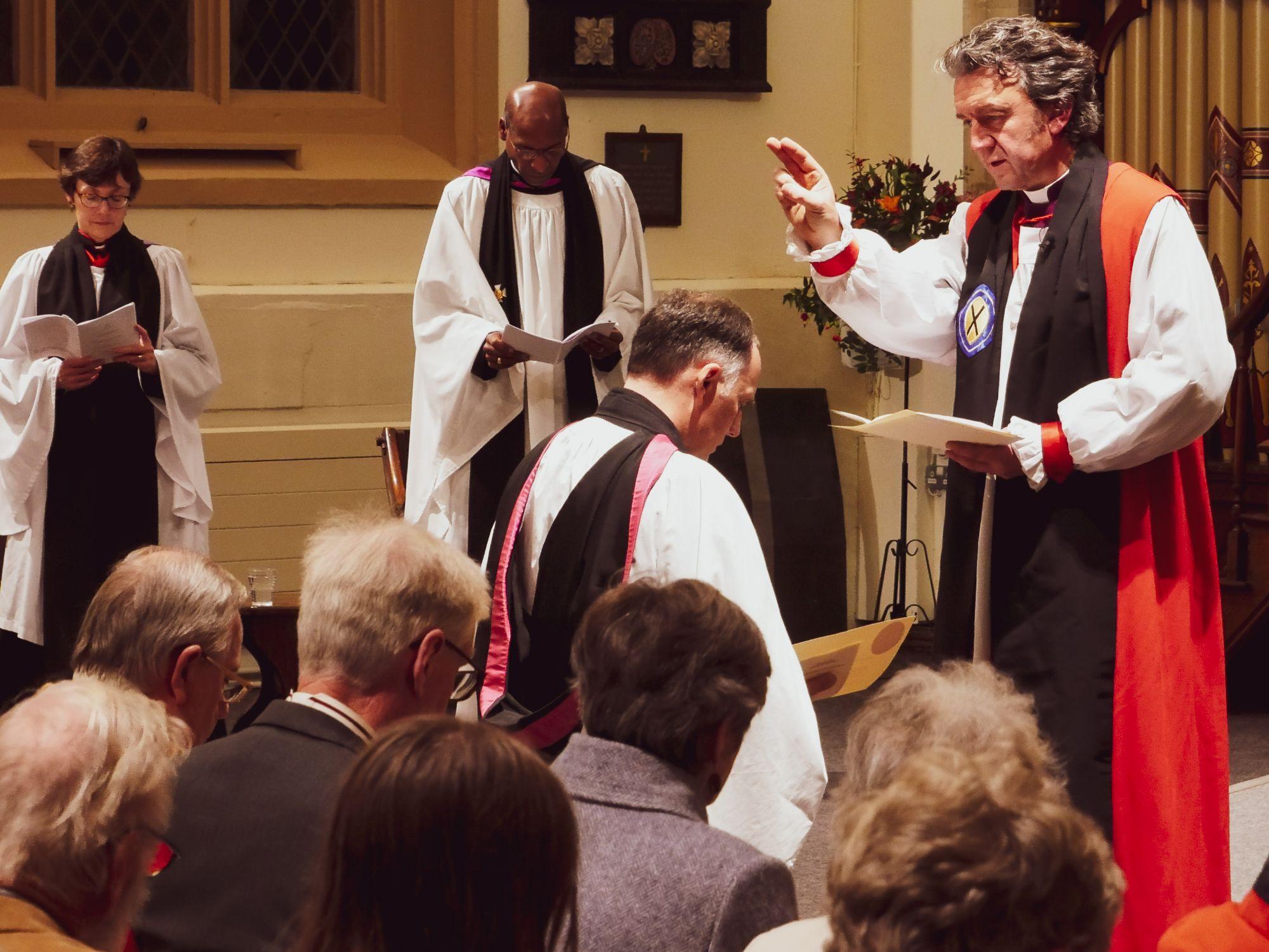 Chris being licensed by Bishop of Ramsbury