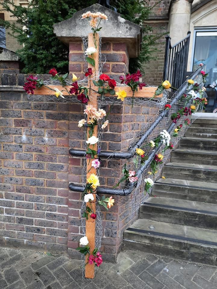 Easter Cross, front of Church +