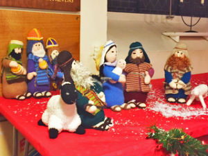 Nativity at Christmas tree festival