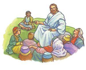Jesus talks to the people - Sermon on the Mount