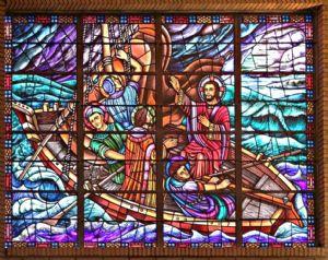 Jesus calms the waves