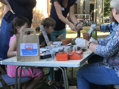 Messy church outdoors last summer