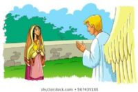Angel Gabriel visits Mary