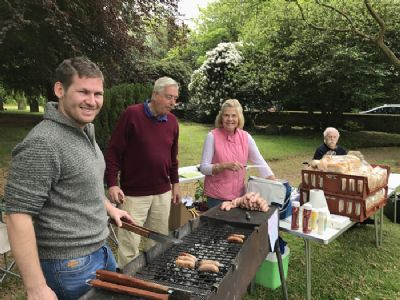 Sausage sizzle at 2018 plant sale