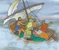 Jesus calms the storm