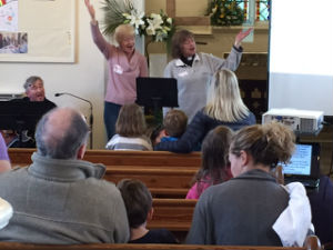 SInging in Messy Church Easter 2017