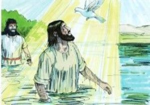 Jesus' being baptised by John