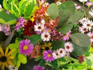 Harvest festival supper flowers