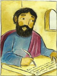 St Mark writing his Gospel