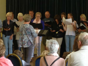 Pirbright Singers at the Scarecrow Festival