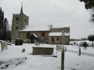 Church in snow March 2018