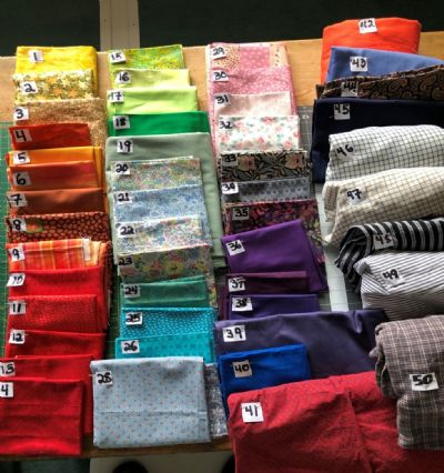 Selection of fabrics for masks