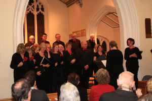 Pirbright singers in church