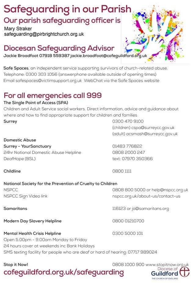 Revised Safeguarding Poster