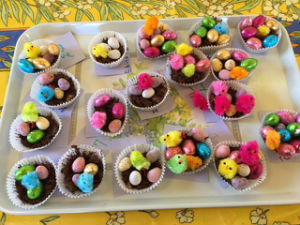 Easter egg cakes Messy Church 2017