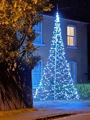 Christmas tree in Pirbright