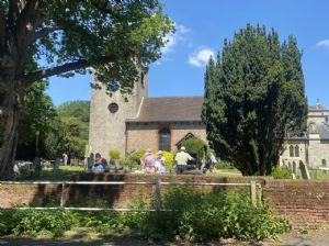 Sausage Sizzle at the Open Gardens HQ (cream teas indoors)