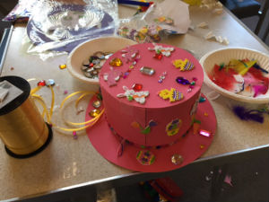 Messy church Easter bonnet 2017