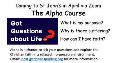 St Johns Alpha Course advert