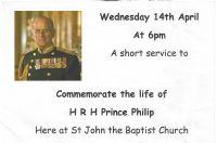 Notice of 14th April service