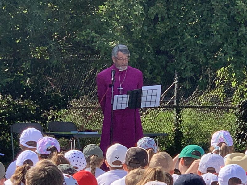 Bishop Rob at KS2 Collective Worship