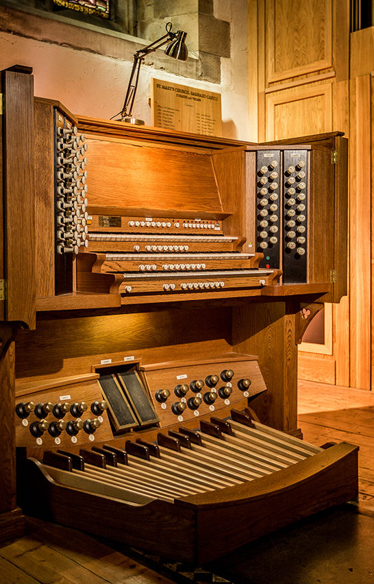 Organ Console Portrait