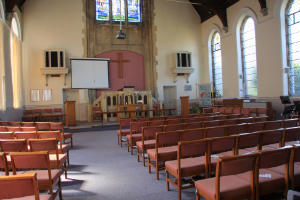 The Sanctuary viewed from the rear seats