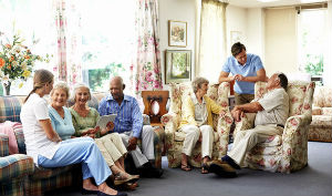 people in a care home