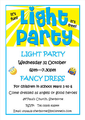 Light party invitation