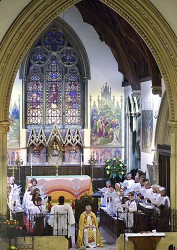 The Choir sings an anthem
