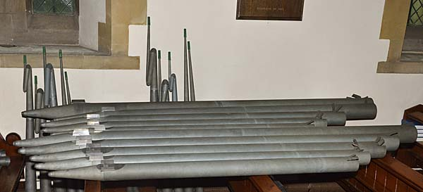 Organ pipes during the refurbishment 1