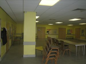 Lower hall view 1