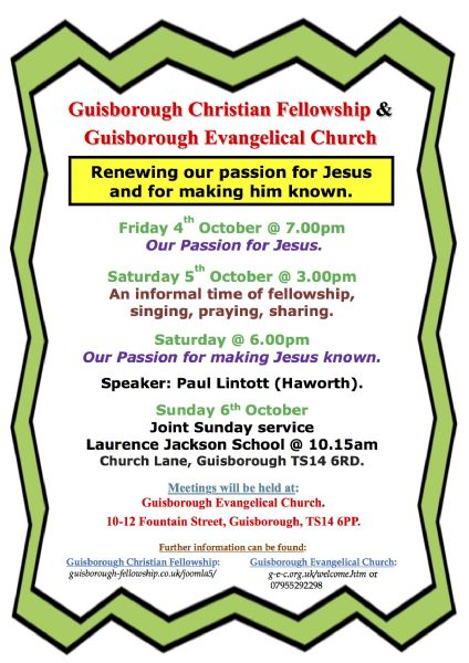Passion for Jesus Weekend poster