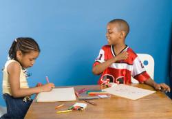children enjoying mustard seed games activity books
