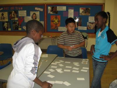 Sunday activity group play Bible card games