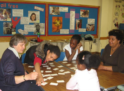 sunday school group play Bible card games