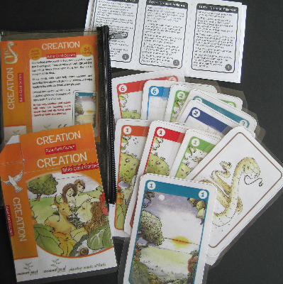Creation game cards enlarged