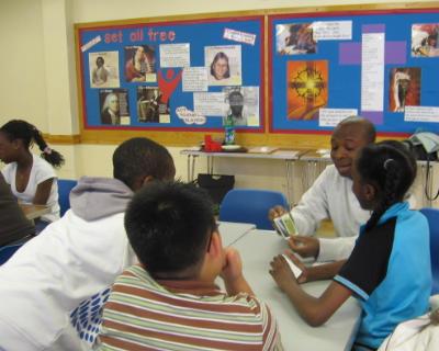 sunday school Bible class playing Christian games
