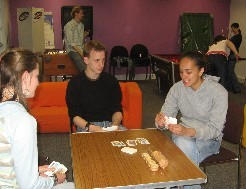 youth group play christian card games