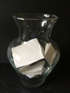 A blessings jar for loving and funny thoughts and actions
