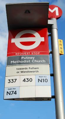 Putney bus stop